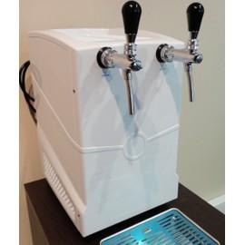 Охладитель пиво/вино надстоечный на 2 выхода, в комплекте с кранами хром