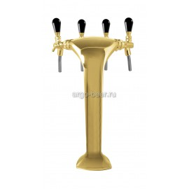 Башня металлическая «Cobra» на 4 продукта, с рециркуляцией, золото