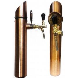 Пивная колонна MERCURIO, сталь,покрытие медь, 1 выход