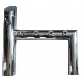Пивная колонна CARINA, h-ОБРАЗНАЯ, сталь, 5 выходов (4+1)