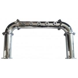 Пивная колонна L90, П-ОБРАЗНАЯ, D=88,9, сталь, покрытие хром, 5 выходов