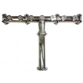 Пивная колонна FLANGE ROTONDE, T-ОБРАЗНАЯ, сталь, 7 выходов