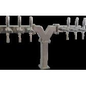 Пивная колонна ACCIAIO, Y-ОБРАЗНАЯ, (квадратная труба 60X60), сталь, покрытие хром, 6 выходов, без рециркуляции