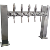 Пивная колонна  ACCIAIO, П-ОБРАЗНАЯ, (квадратная труба основа 80Х80, крыло 60Х60), сталь, покрытие хром, 6 выходов, без рециркуляции,